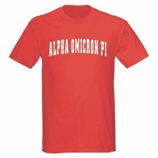 Alpha Omicron Pi Letterman T-Shirts