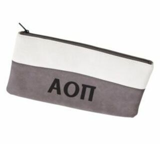 Alpha Omicron Pi Letters Cosmetic Bag