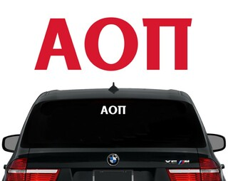 Alpha Omicron Pi Letters Decal