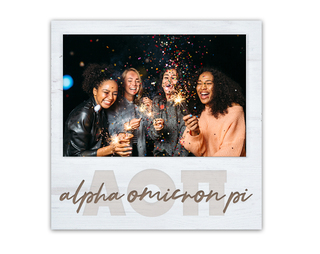 Alpha Omicron Pi Letters Script Block Picture Frame