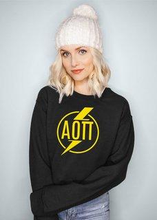 Alpha Omicron Pi Lightning Crewneck Sweatshirt