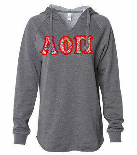 Alpha Omicron Pi Lightweight California Wavewash Hooded Pullover Sweatshirt