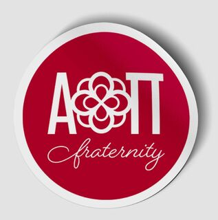 Alpha Omicron Pi Logo Round Decal