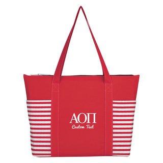 Alpha Omicron Pi Maritime Tote Bag