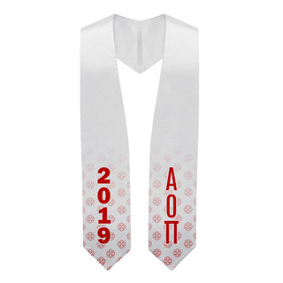 Alpha Omicron Pi Mascot Graduation Stole