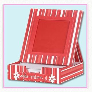 Alpha Omicron Pi Memo Box W Frame - Extreme Closeout