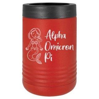 Alpha Omicron Pi Mermaid Stainless Steel Beverage Holder