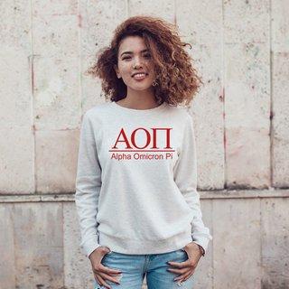 Alpha Omicron Pi Message Crewneck Sweatshirts