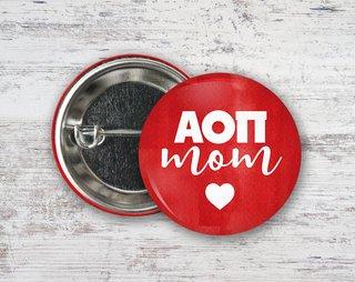 Alpha Omicron Pi Mom Button
