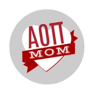 Alpha Omicron Pi Mom Round Decals