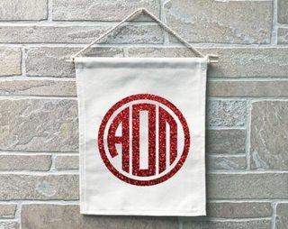Alpha Omicron Pi Monogram Banner