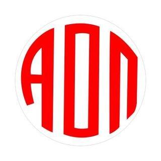 Alpha Omicron Pi Monogram Decal