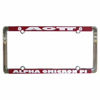 Alpha Omicron Pi New Design License Plate Frame