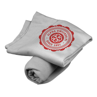 Alpha Omicron Pi Old School Seal Sweatshirt Blanket