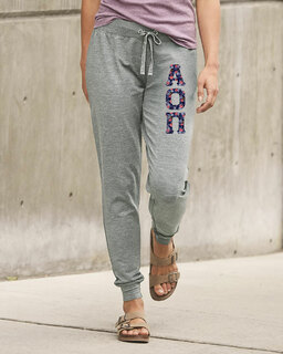Alpha Omicron Pi Be All Stretch Terry Sorority Pants