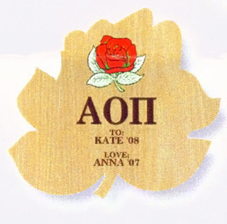 Alpha Omicron Pi Plaque
