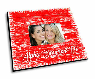 Alpha Omicron Pi Painted Fence Picture Frame