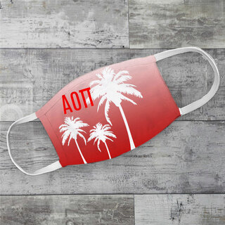 Alpha Omicron Pi Palm Trees Face Mask