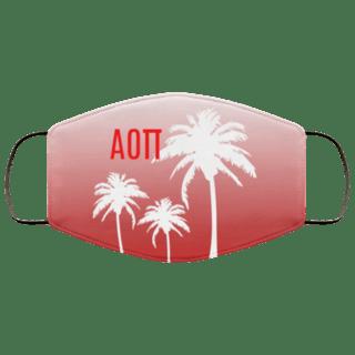 Alpha Omicron Pi Palm Trees Face Mask