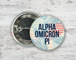 Alpha Omicron Pi Paradise Found Button
