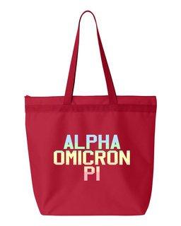 Alpha Omicron Pi Pastel Tote Bag