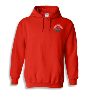 DISCOUNT-Alpha Omicron Pi Emblem Rose Hooded Sweatshirt
