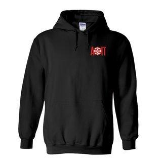 DISCOUNT-Alpha Omicron Pi Emblem Rose Hooded Sweatshirt