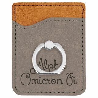 Alpha Omicron Pi Phone Wallet with Ring