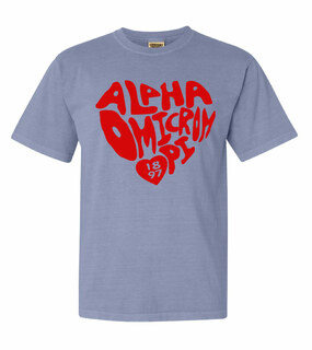 Alpha Omicron Pi Piece of My Heart Sorority Comfort Colors T-Shirt