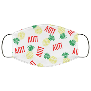 Alpha Omicron Pi Pineapples Face Mask