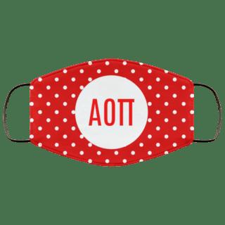 Alpha Omicron Pi Polka Dots Face Mask