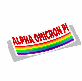 Alpha Omicron Pi Prism Decal Sticker