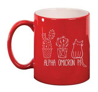 Alpha Omicron Pi Purrrfect Sorority Coffee Mug