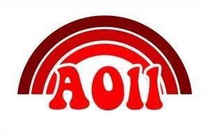 Alpha Omicron Pi Rainbow Decals