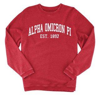 Alpha Omicron Pi Rally Corduroy Crew