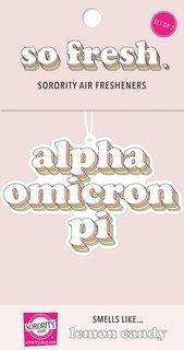 Alpha Omicron Pi Retro Air Freshener (2 pack)