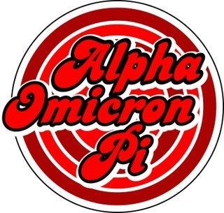 Alpha Omicron Pi Retro Round Decals