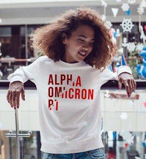 Alpha Omicron Pi Ripped Favorite Crewneck