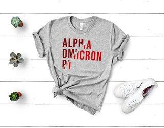Alpha Omicron Pi Ripped Favorite T-Shirt