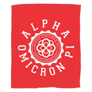 Alpha Omicron Pi Seal Fleece Blanket