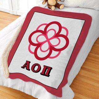Alpha Omicron Pi Sherpa Lap Blanket
