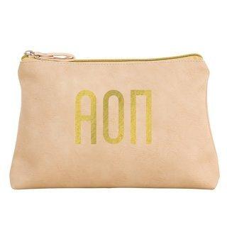 Alpha Omicron Pi Sorority Cosmetic Bag