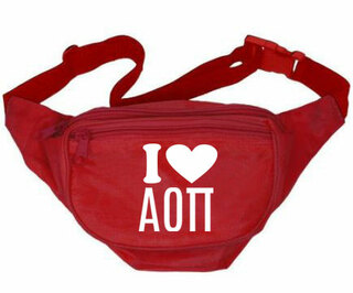 Alpha Omicron Pi Sorority Fanny Pack
