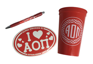 Alpha Omicron Pi Sorority Medium Pack $7.50