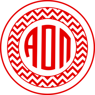 Alpha Omicron Pi Sorority Monogram Bumper Sticker