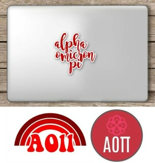 Alpha Omicron Pi Sorority Sticker Collection - SAVE!