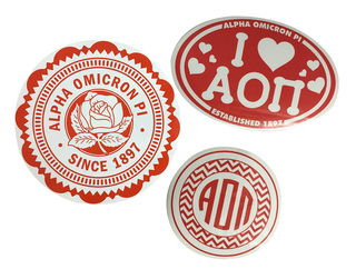 Alpha Omicron Pi Sorority Sticker Collection $5.95