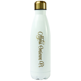 Alpha Omicron Pi Stainless Steel Shimmer Water Bottles