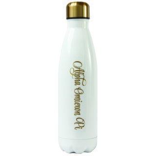 Alpha Omicron Pi Stainless Steel Shimmer Water Bottles