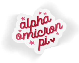 Alpha Omicron Pi Star Sticker